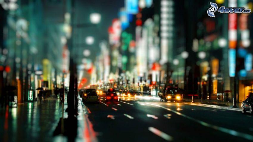 ciudad de noche, calle
