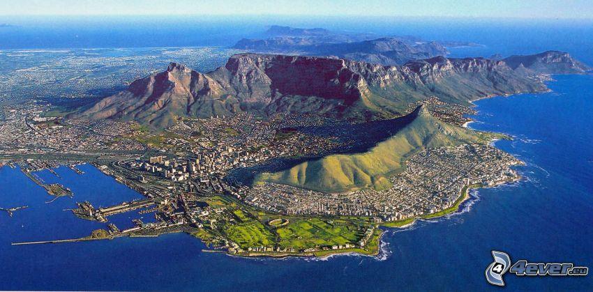 Ciudad del Cabo, ciudad costera, isla