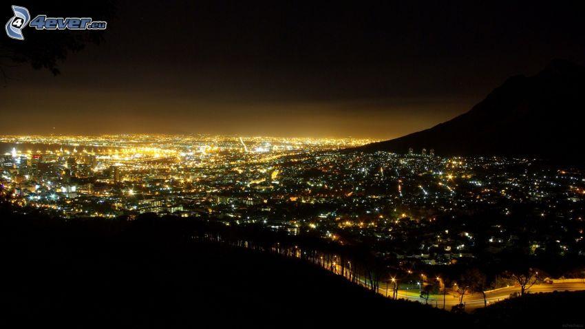 Ciudad del Cabo, ciudad de noche
