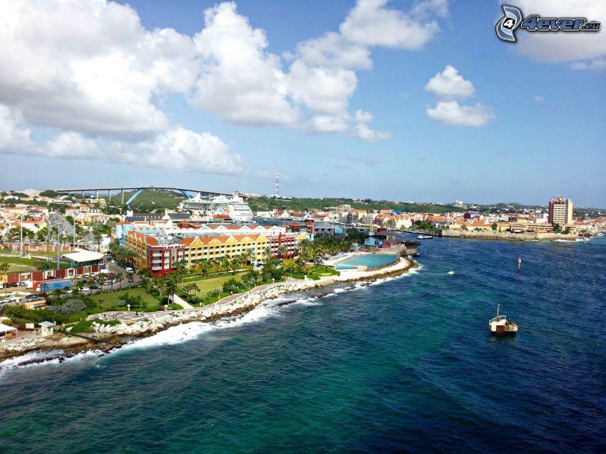 Curaçao, ciudad costera