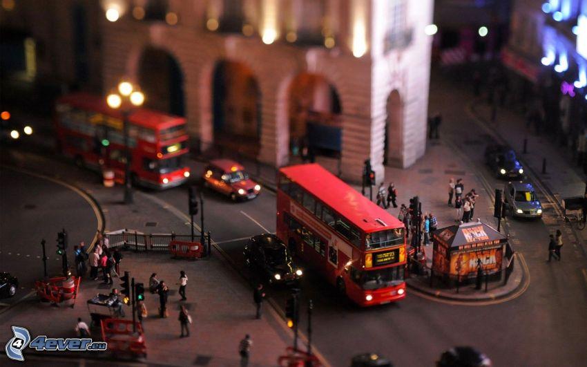 doubledecker, Londres, diorama