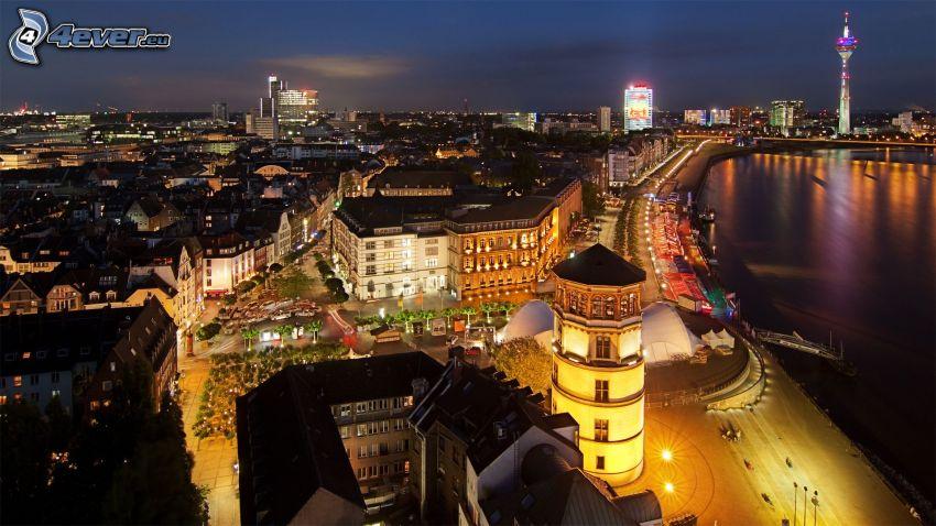 Düsseldorf, ciudad de noche