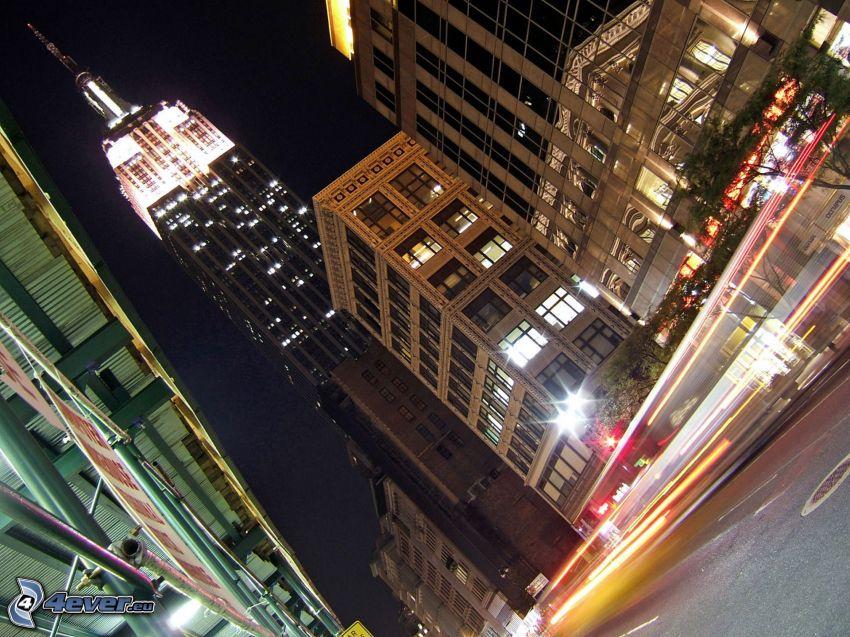 Empire State Building, Manhattan, ciudad de noche