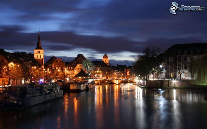 Estrasburgo, ciudad de noche