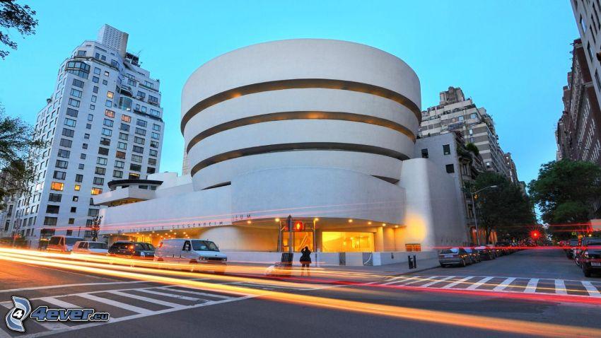 Guggenheim Museum, calles, luces