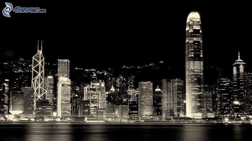 Hong Kong, ciudad de noche