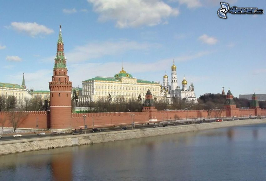 Kremlin, Moscú, Rusia, río
