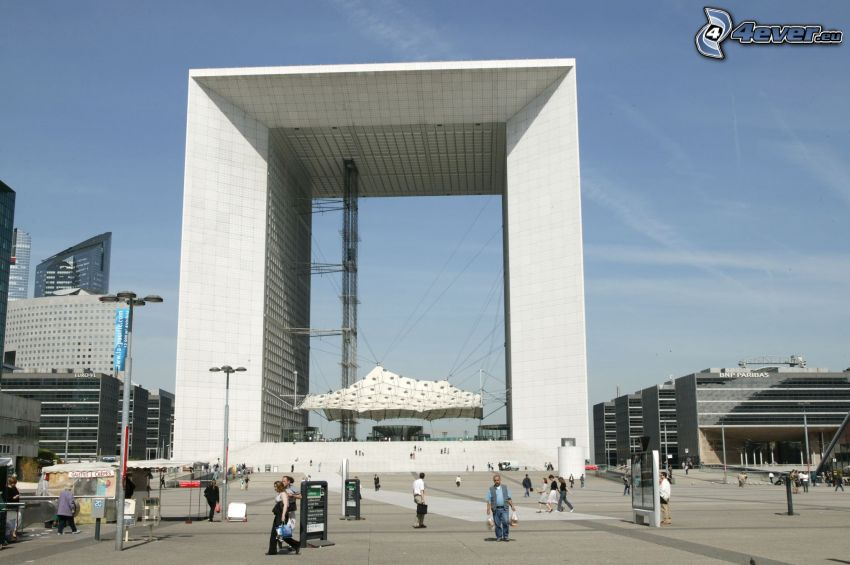 La Défense, plaza, París