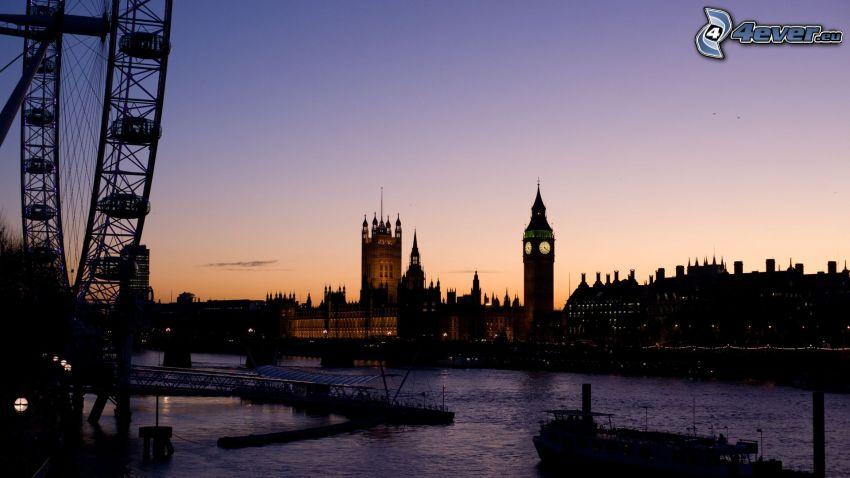 Londres, London Eye, Big Ben