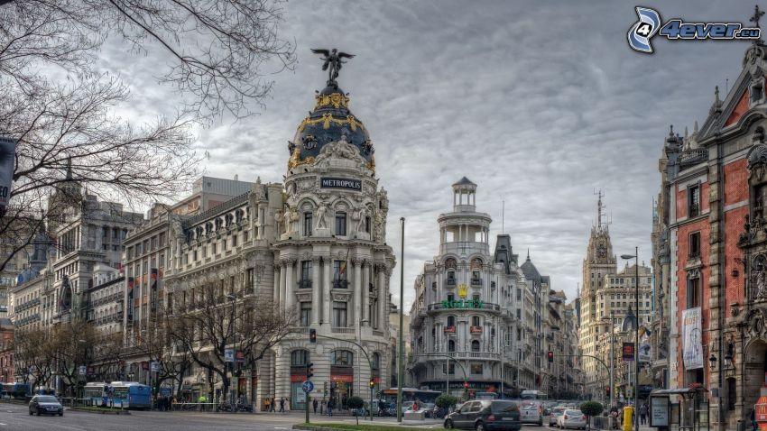 Madrid, calles, HDR