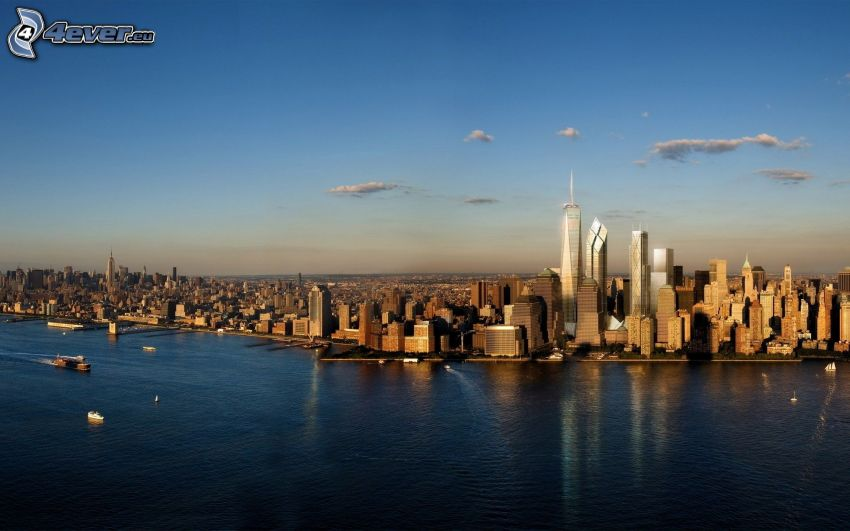 Manhattan, rascacielos, 1 WTC, New York