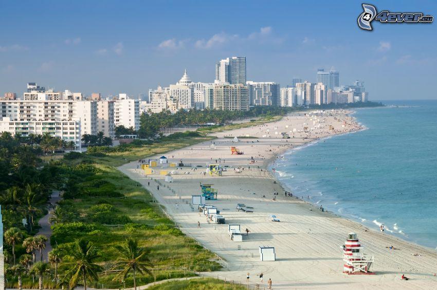 Miami, ciudad costera, playa
