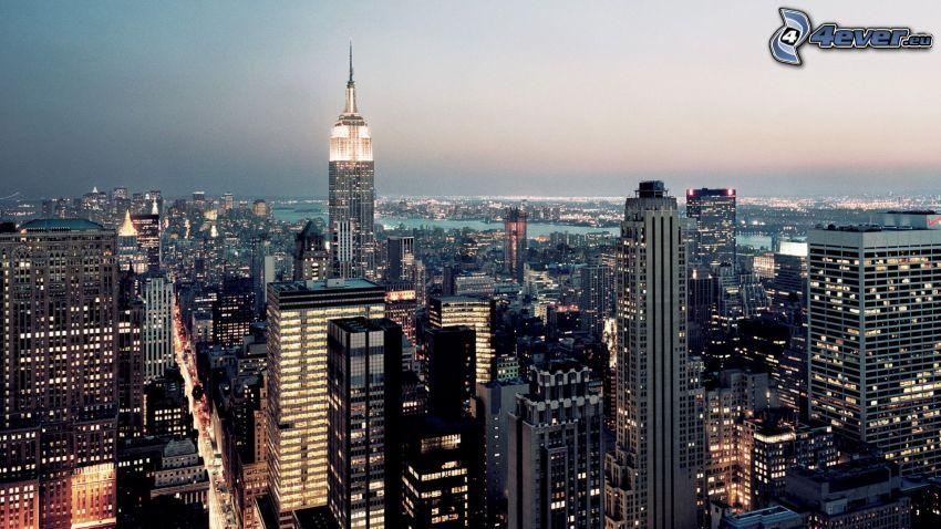 New York, rascacielos, Empire State Building