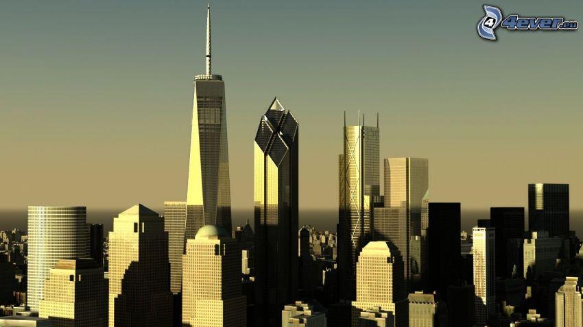 New York, rascacielos