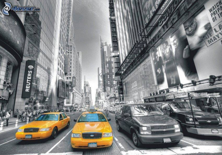 NYC Taxi, calle, New York