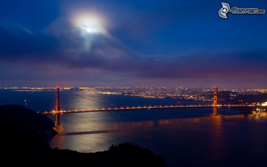 San Francisco, Golden Gate, ciudad de noche
