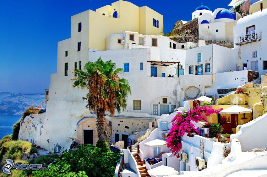 Santorini, ciudad costera