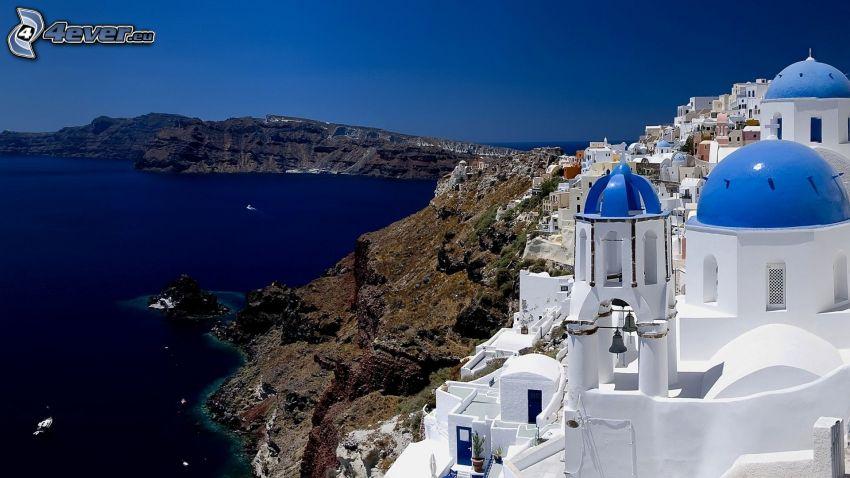 Santorini, Grecia, mar, costa