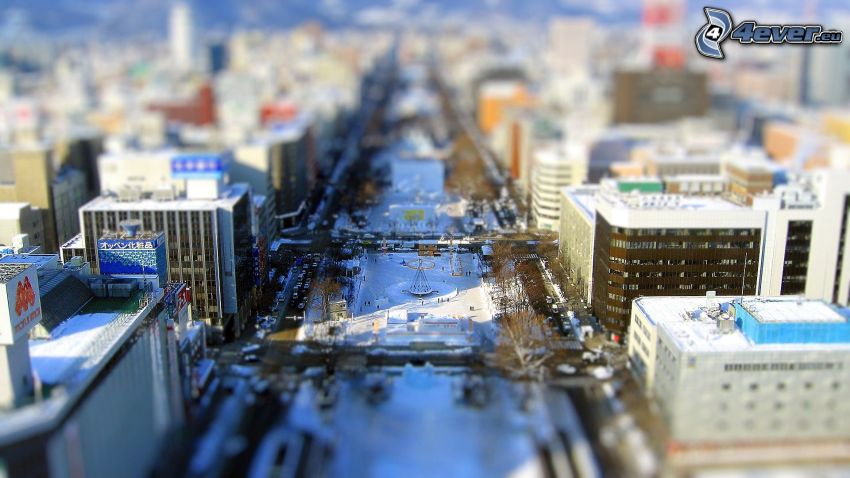 Sapporo, Japón, diorama