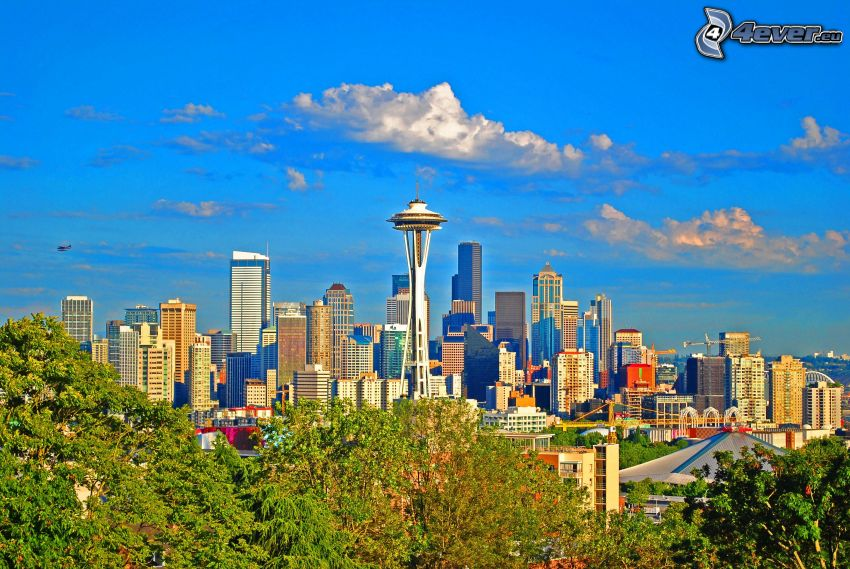 Seattle, Space Needle, vistas a la ciudad