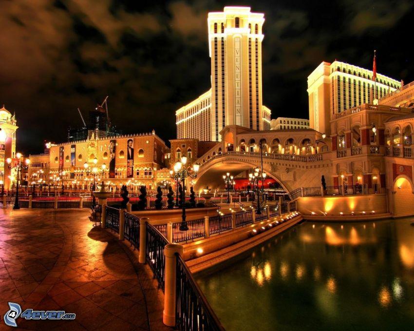 The Venetian Resort Hotel, Las Vegas, ciudad de noche