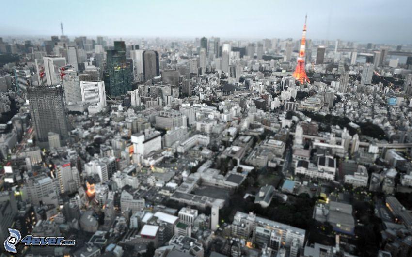 Tokio, diorama, Tokyo Tower
