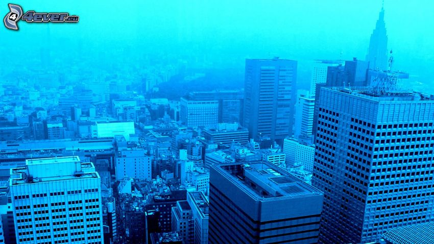 Tokio, fondo azul