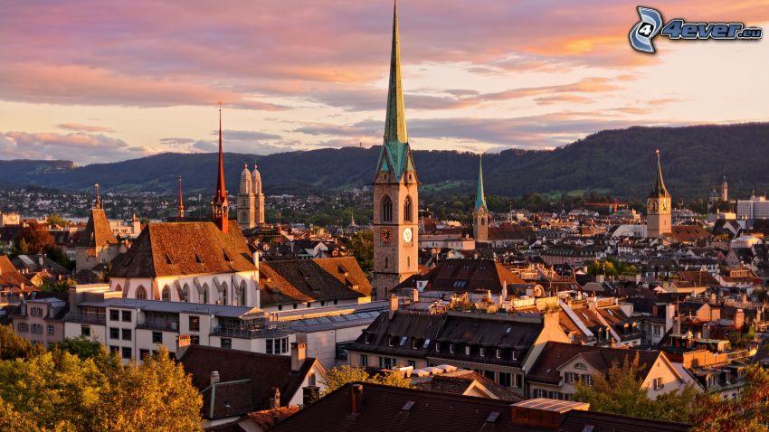 Zürich, atardecer
