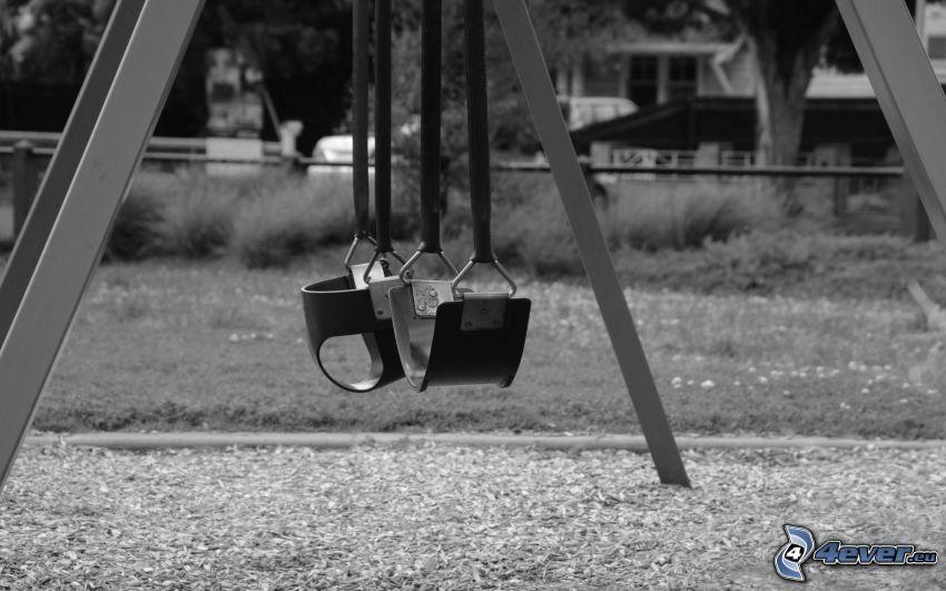 columpios, Foto en blanco y negro
