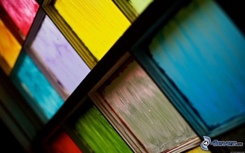 cuadrados de colores, ventana