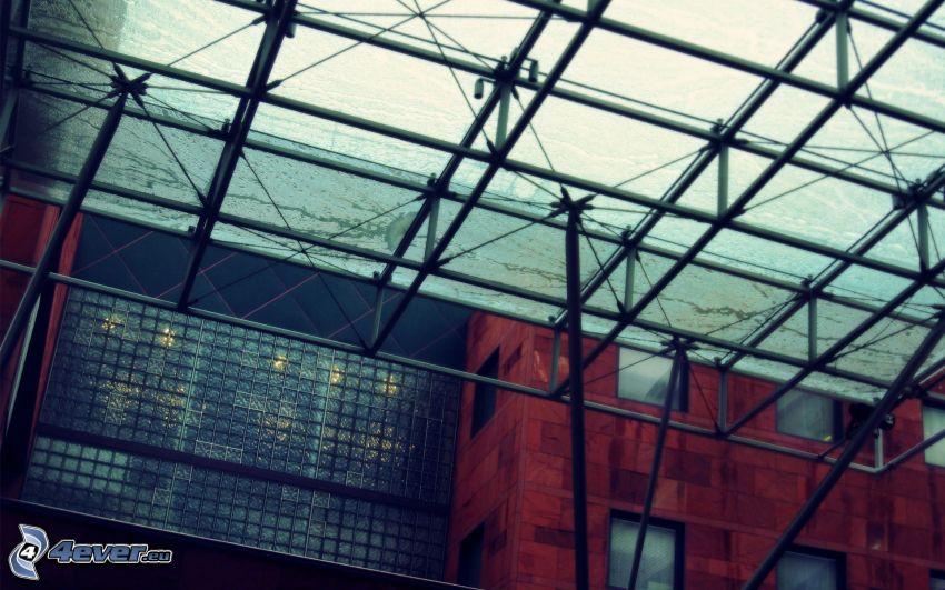 cubierta, ventanas, edificio