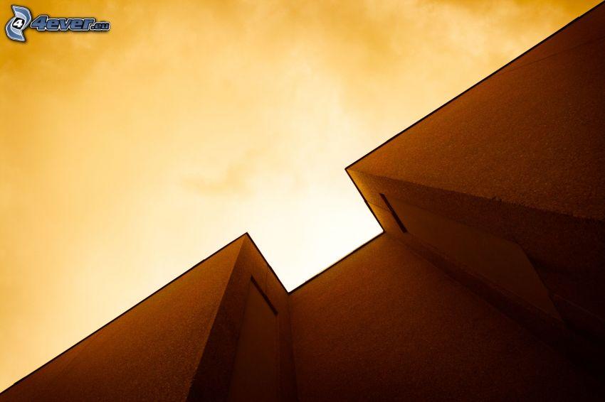 edificio, cielo