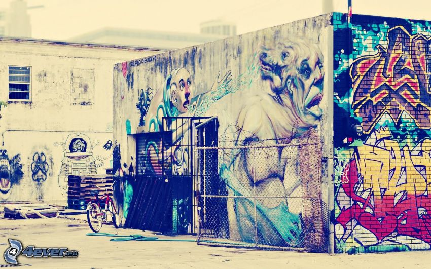 edificio, grafiti