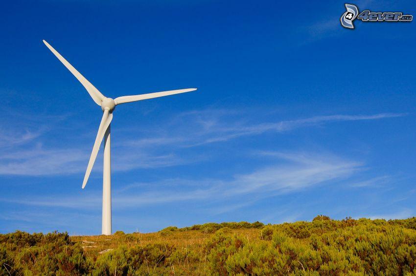 energía eólica, cielo