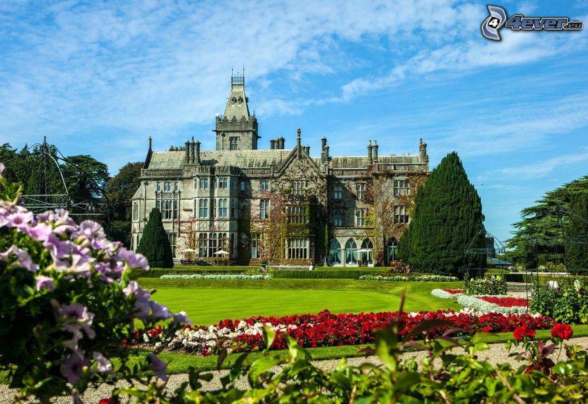 Adare Manor, hotel, jardín