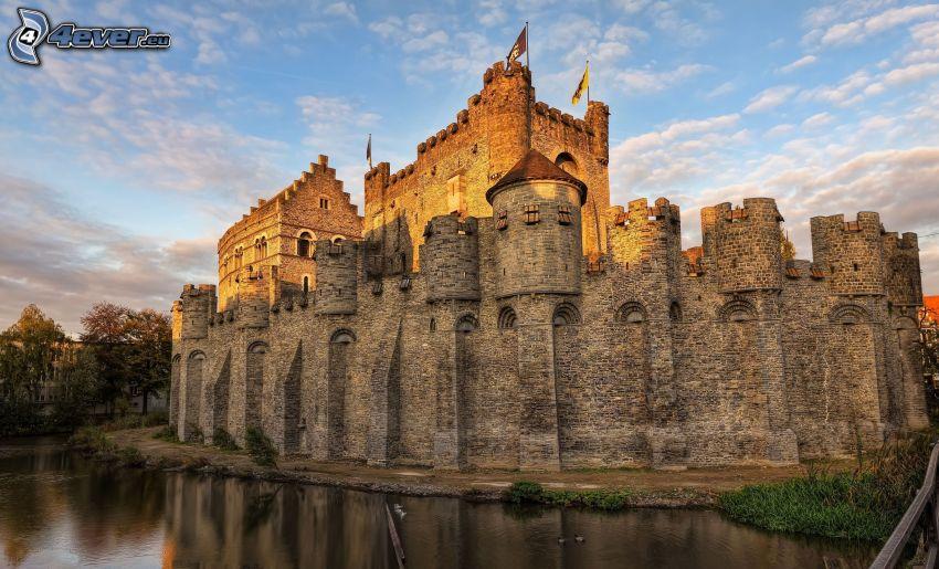castillo, Bélgica, piscina