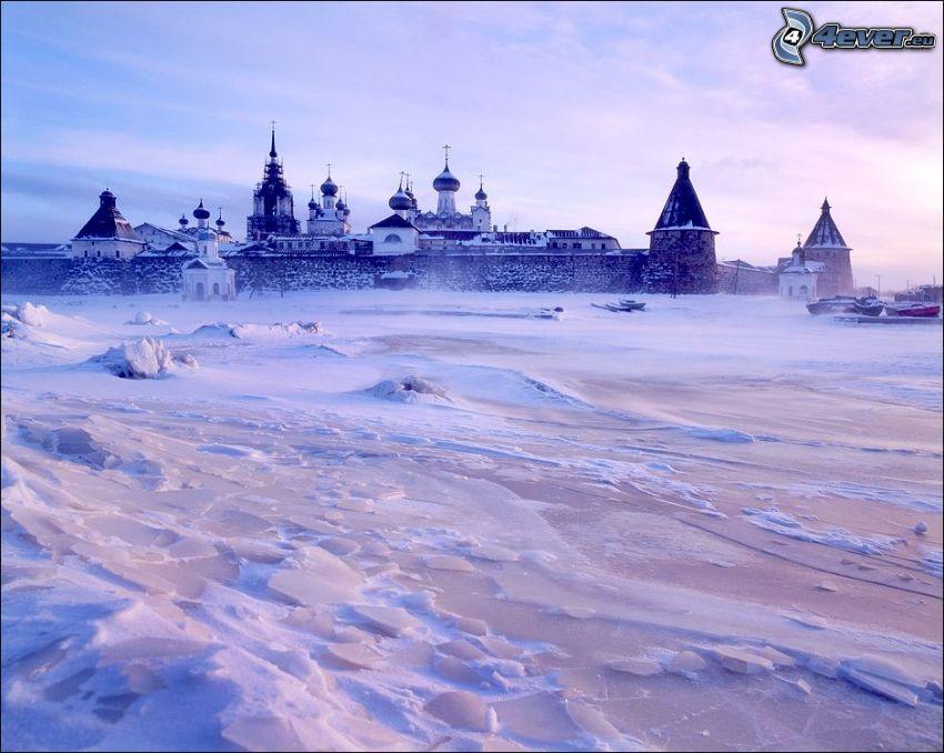 castillo, nieve