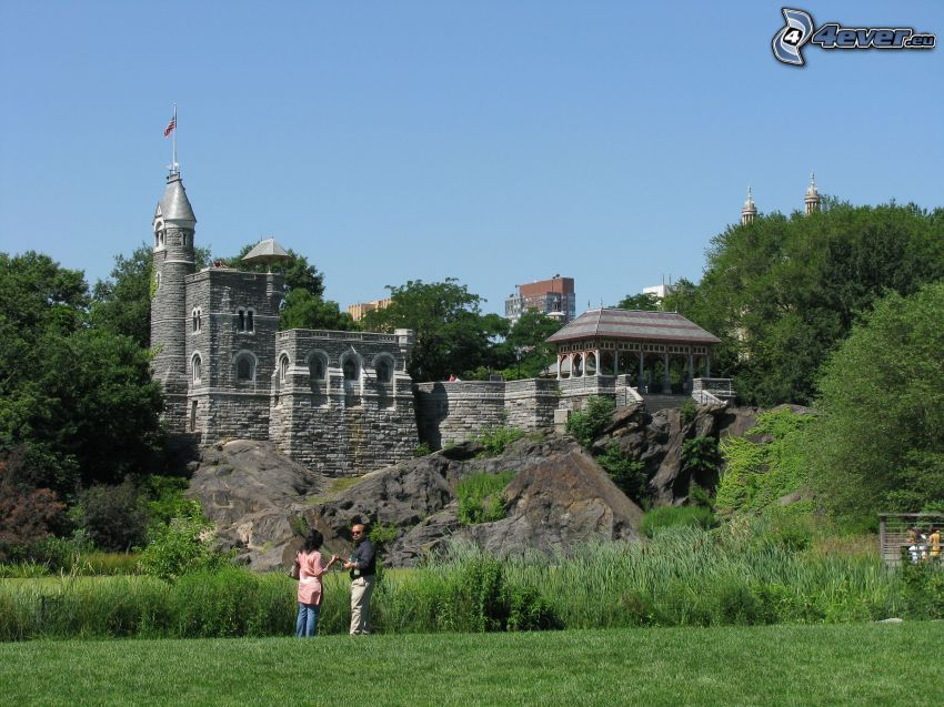 Castillo Belvedere, verde