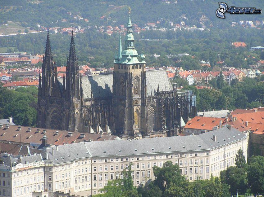 Castillo de Praga, iglesia, templo, ciudad