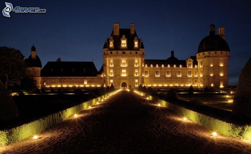 castillo de Valençay, noche