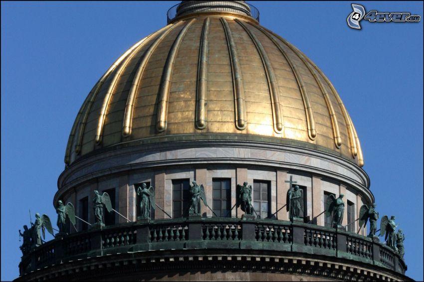 Catedral de San Isaac, cúpula, estatuaria