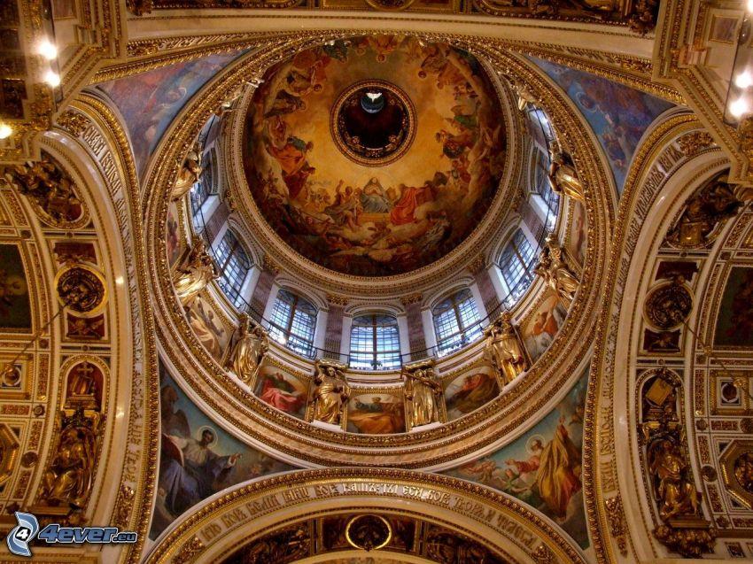 Catedral de San Isaac, interior, techo, pintura