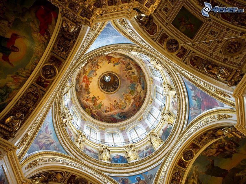 Catedral de San Isaac, interior, techo
