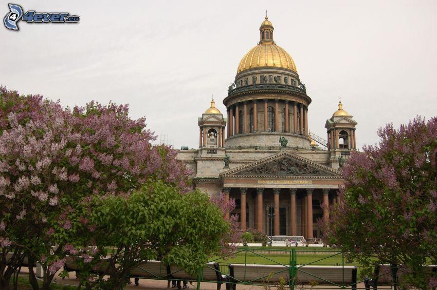 Catedral de San Isaac, Petersburgo, Rusia, lila