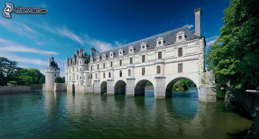 Château de Chenonceau, castillo, Francia, lago