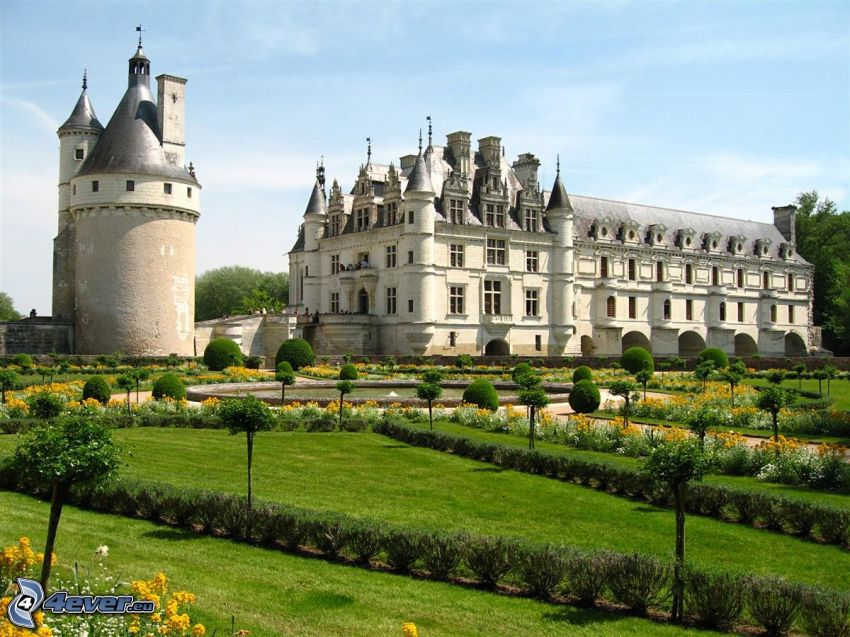 Château de Chenonceau, jardín, parque