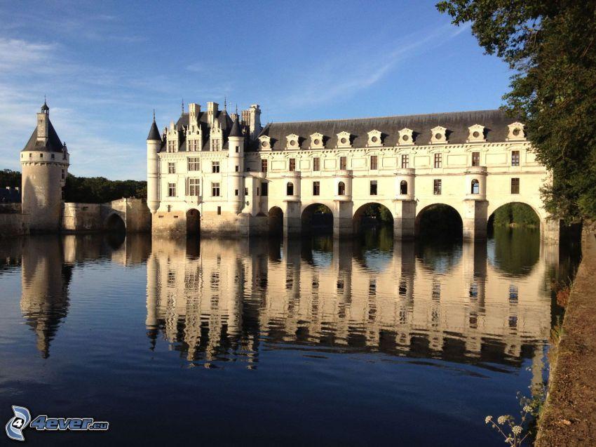 Château de Chenonceau, río, reflejo