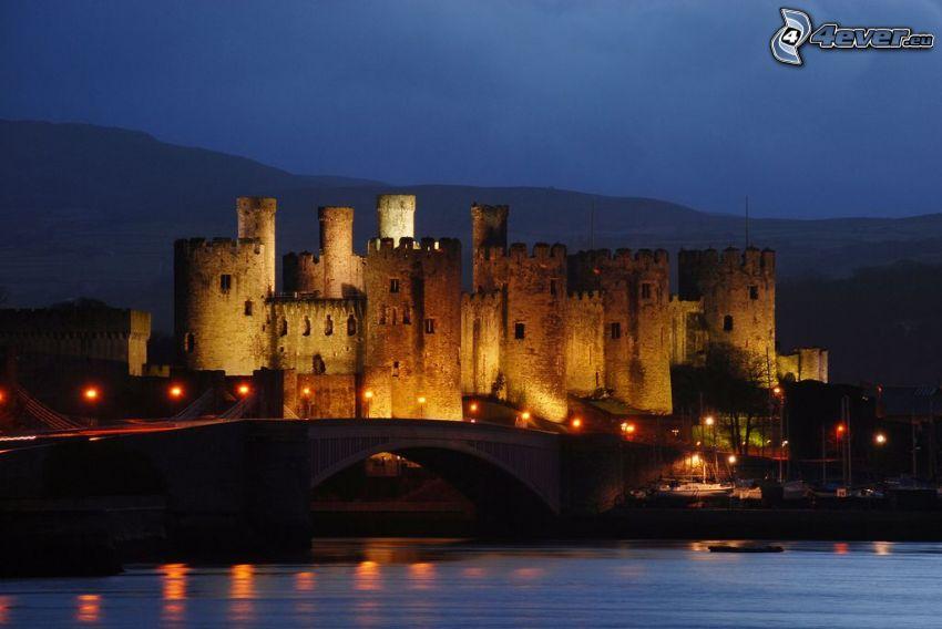 Conwy Castle, noche