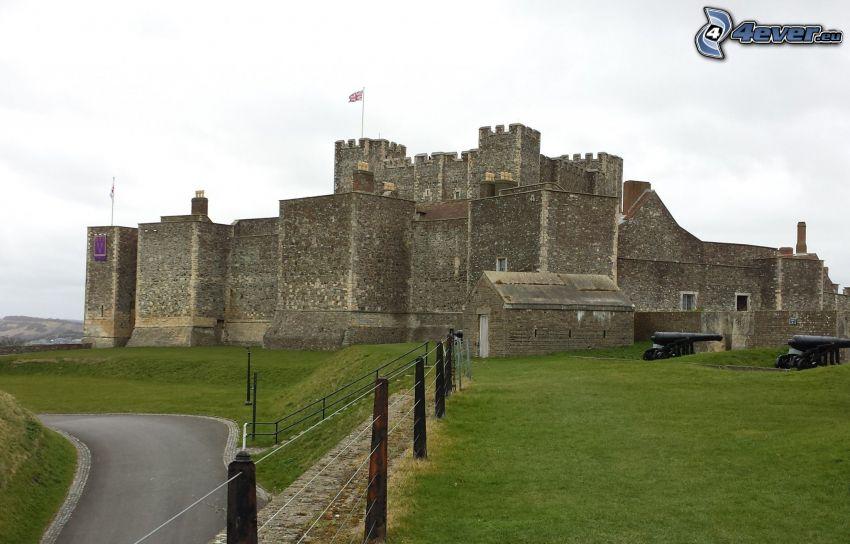 Dover Castle, hierba, camino
