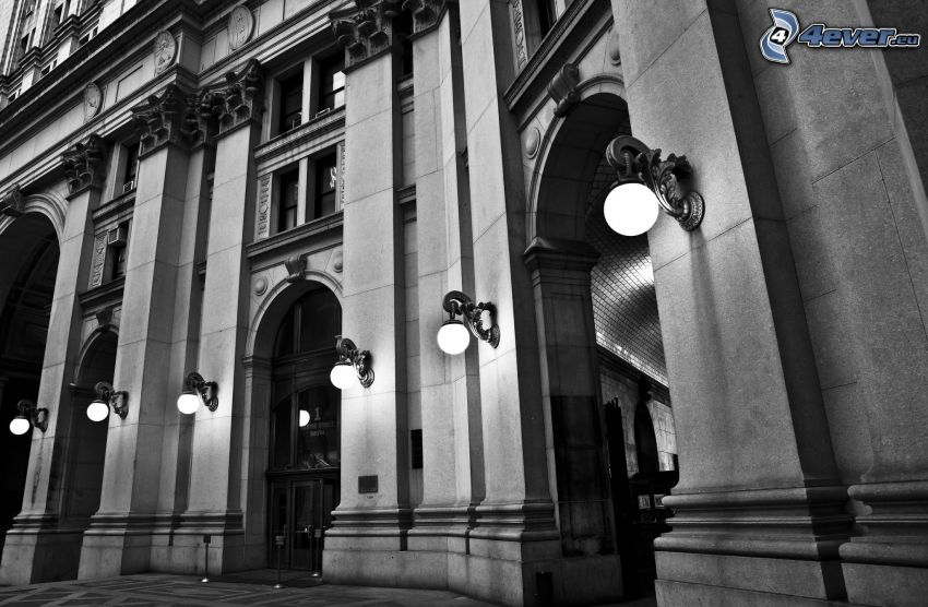 edificio, iluminación